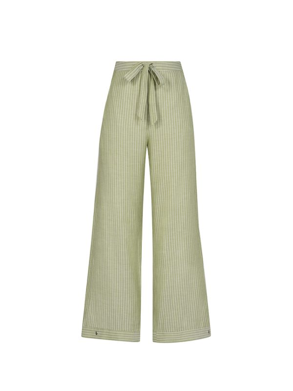 Green Apple Juice Flared Pants PN-L180413