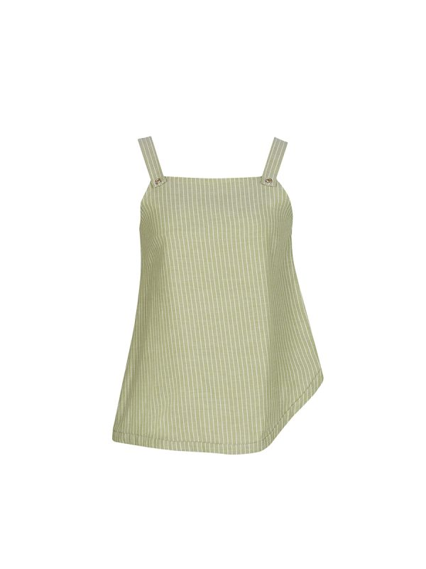 Green Apple Juice Sleeveless Top BL-L180412